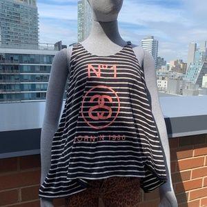 Stussy Stripe Logo Tank Streetwear